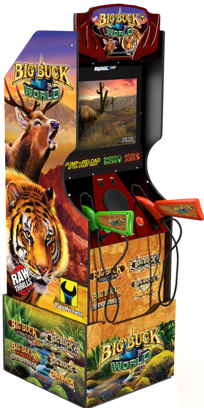 Arcade1Up Big Buck World™ Arcade Cabinet with Riser|Borne de jeu Arcade1Up Big Buck WorldMD avec plateforme|BUCKHUNT