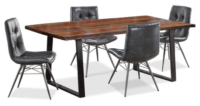 Bowery 5-Piece Dining Package - {Rustic}, {Industrial} style Dining Room Set