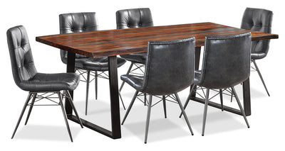 Bowery 7-Piece Dining Package - {Rustic}, {Industrial} style Dining Room Set