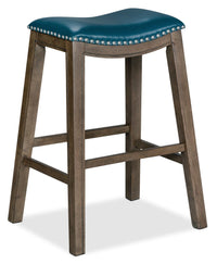 Cale Bar-Height Bar Stool - Aqua