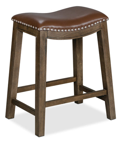 Cale Counter-Height Bar Stool - Brown | Tabouret Cale de hauteur comptoir - brun | CALECCST