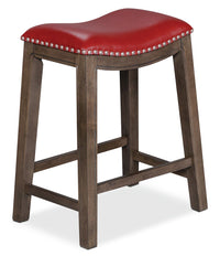 Cale Counter-Height Bar Stool - Red