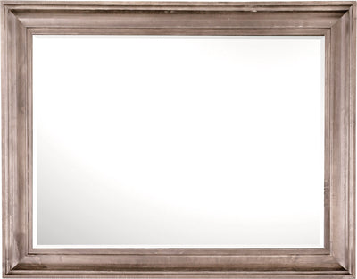 Calistoga Mirror – Dovetail Grey - Rustic style Mirror in Grey Brown Pine Solids