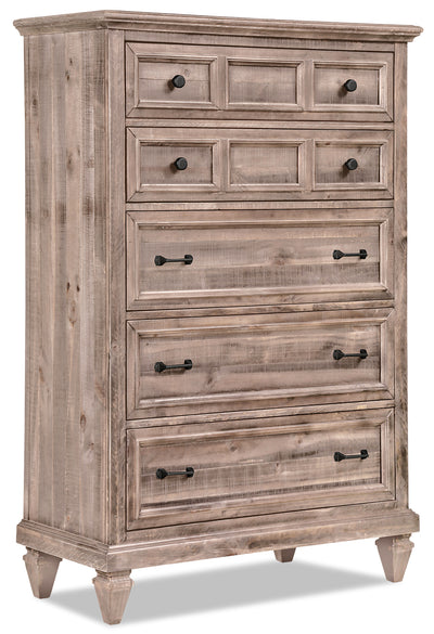 Calistoga Chest – Dovetail Grey - Rustic style Chest in Grey Brown Pine Solids