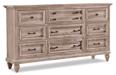 Calistoga Dresser – Dovetail Grey - Rustic style Dresser in Grey Brown Pine Solids