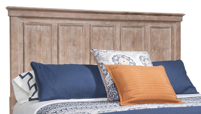Calistoga King Headboard – Dovetail Grey - Rustic style Headboard in Grey Brown Pine Solids