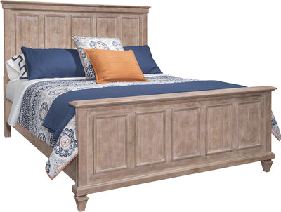 Calistoga Queen Bed – Dovetail Grey - Rustic style Bed in Grey Brown Pine Solids