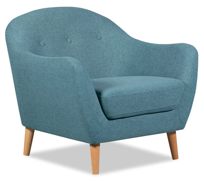 Calla Linen-Look Fabric Chair – Blue - Modern style Chair in Blue