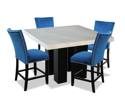 Cami 5-Piece Counter-Height Dining Set - Blue