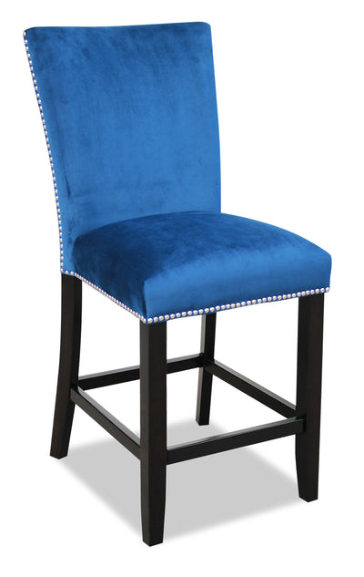 Cami Counter-Height Dining Chair - Blue|Chaise de salle à manger Cami de hauteur comptoir - bleue|CAMIACSC