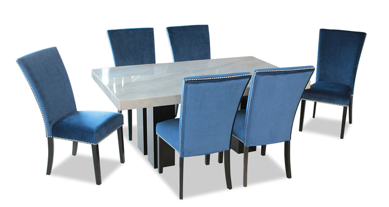 Cami 7-Piece Dining Set - Blue
