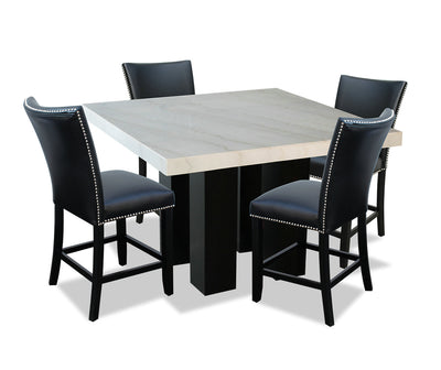 Cami 5-Piece Counter-Height Dining Set - Black