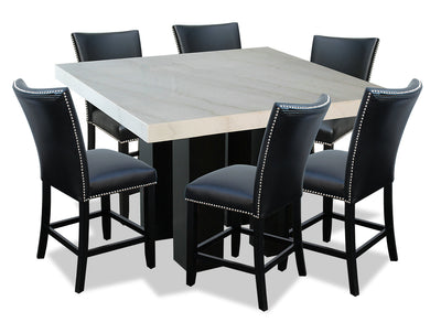 Cami 7-Piece Counter-Height Dining Set - Black