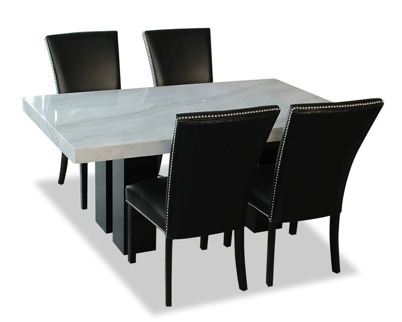 Cami 5-Piece Dining Set - Black