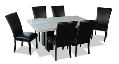 Cami 7-Piece Dining Set - Black