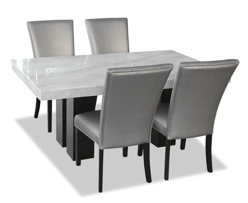 Cami 5-Piece Dining Set - Grey
