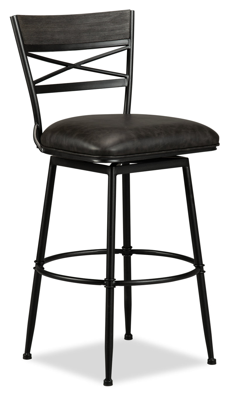 Cardale Bar Stool - {Contemporary} style Bar Stool in Weathered Grey {Metal}