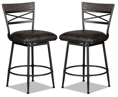 Cardale Counter-Height Bar Stool, Set of 2|Tabouret Cardale de hauteur comptoir, ensemble de 2|CARDGCSP