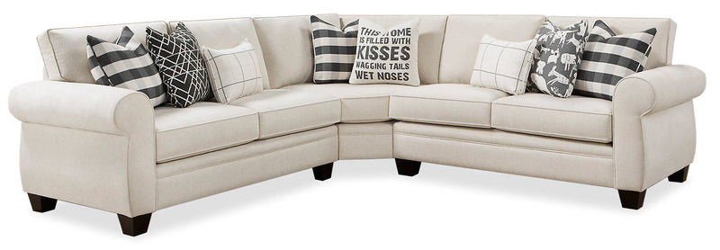 Carma 3-Piece Chenille Sectional - Popstitch Shell