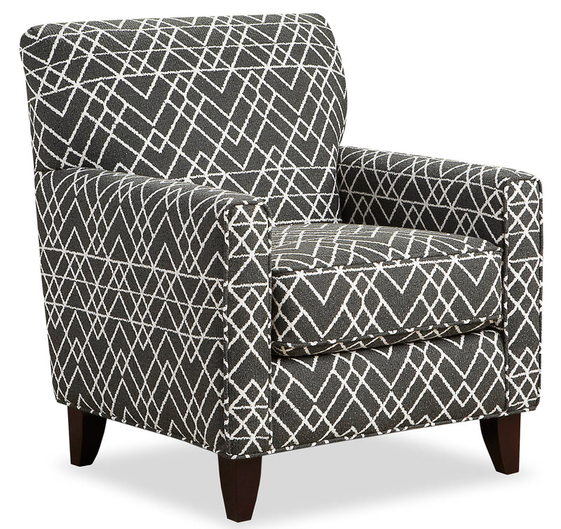 Carma Chenille Accent Chair - Hyphen Onyx