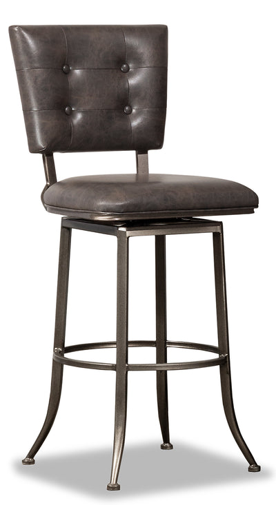 Caslan Bar Stool - {Industrial} style Bar Stool in Weathered Grey {Steel}