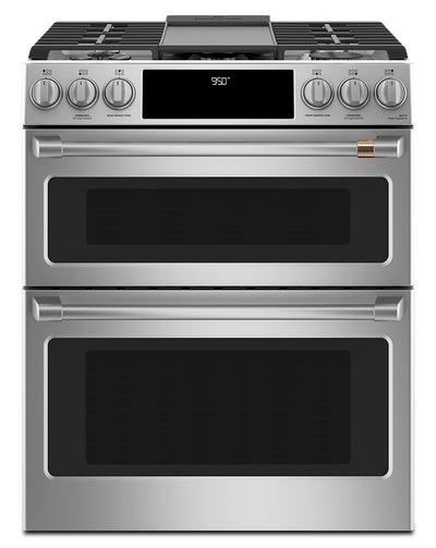 "Café 30"" Slide-In Dual-Fuel Double Oven Convection Range - CC2S950P2MS1 - Dual Fuel Range in Stainless Steel"