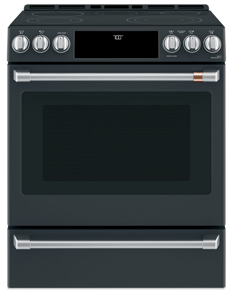"Café 30"" Slide-In Radiant and Convection Electric Range - CCES700P3MD1