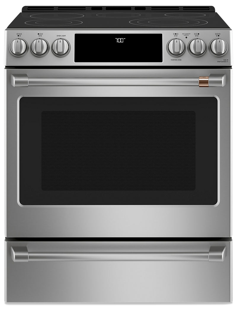 "Café 30"" Slide-In Radiant and Convection Electric Range - CCES700P2MS1