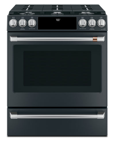 Café Slide-In Gas Range with Convection - CCGS700P3MD1 - Gas Range in Matte Black