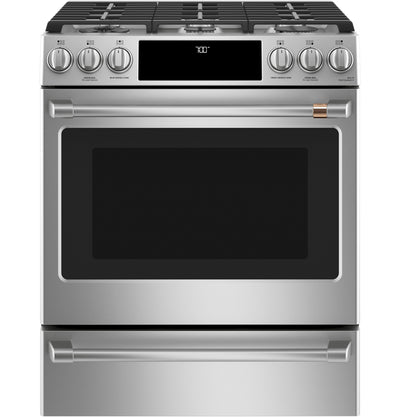 Café Slide-In Gas Range with Convection - CCGS700P2MS1 - Gas Range in Stainless Steel