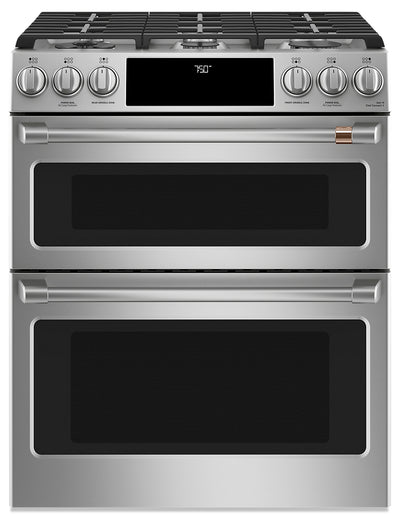 Café Slide-In Double-Oven Gas Range with Convection - CCGS750P2MS1 - Gas Range in Stainless Steel