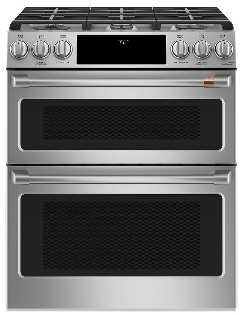 Café Slide-In Double-Oven Gas Range with Convection - CCGS750P2MS1|Cuisinière à gaz encastrée Café à double four avec convection - CCGS750P2MS1|CCGS750S