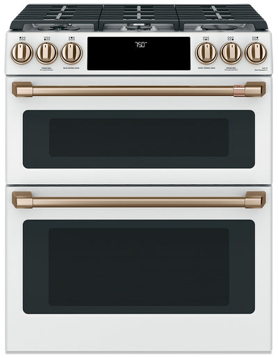 Café Slide-In Double-Oven Gas Range with Convection - CCGS750P4MW2 - Gas Range in Matte White