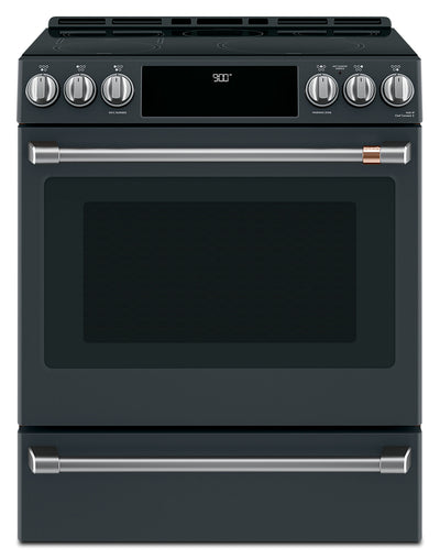 Café Slide-In Electric Range with Warming Drawer - CCHS900P3MD1 - Electric Range in Matte Black