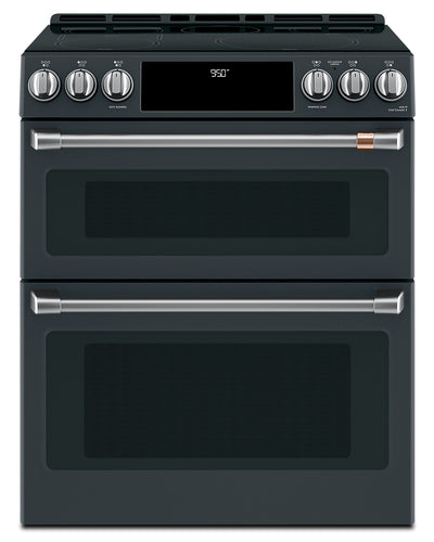 Café Slide-In Double Oven Electric Range with Convection - CCHS950P3MD1 - Electric Range in Matte Black