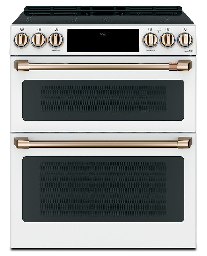 Café Slide-In Double Oven Electric Range with Convection - CCHS950P4MW2 - Electric Range in Matte White