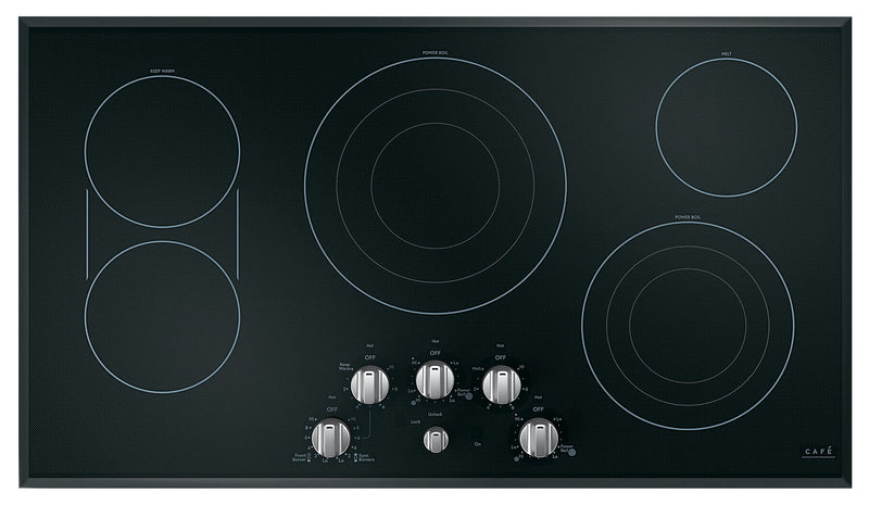 "Café 36"" Electric Cooktop with Knobs - CEP70362MS1