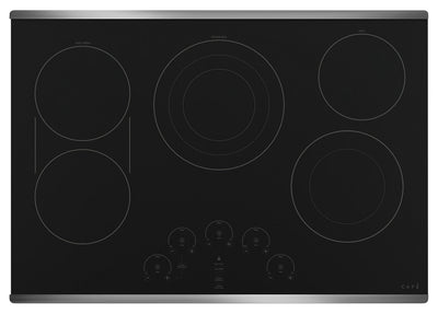 "Café 30"" Electric Cooktop - CEP90302NSS - Electric Cooktop in Black on Stainless"