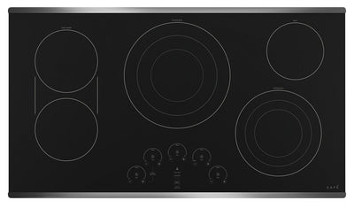 "Café 36"" Electric Cooktop - CEP90362NSS - Electric Cooktop in Black on Stainless"