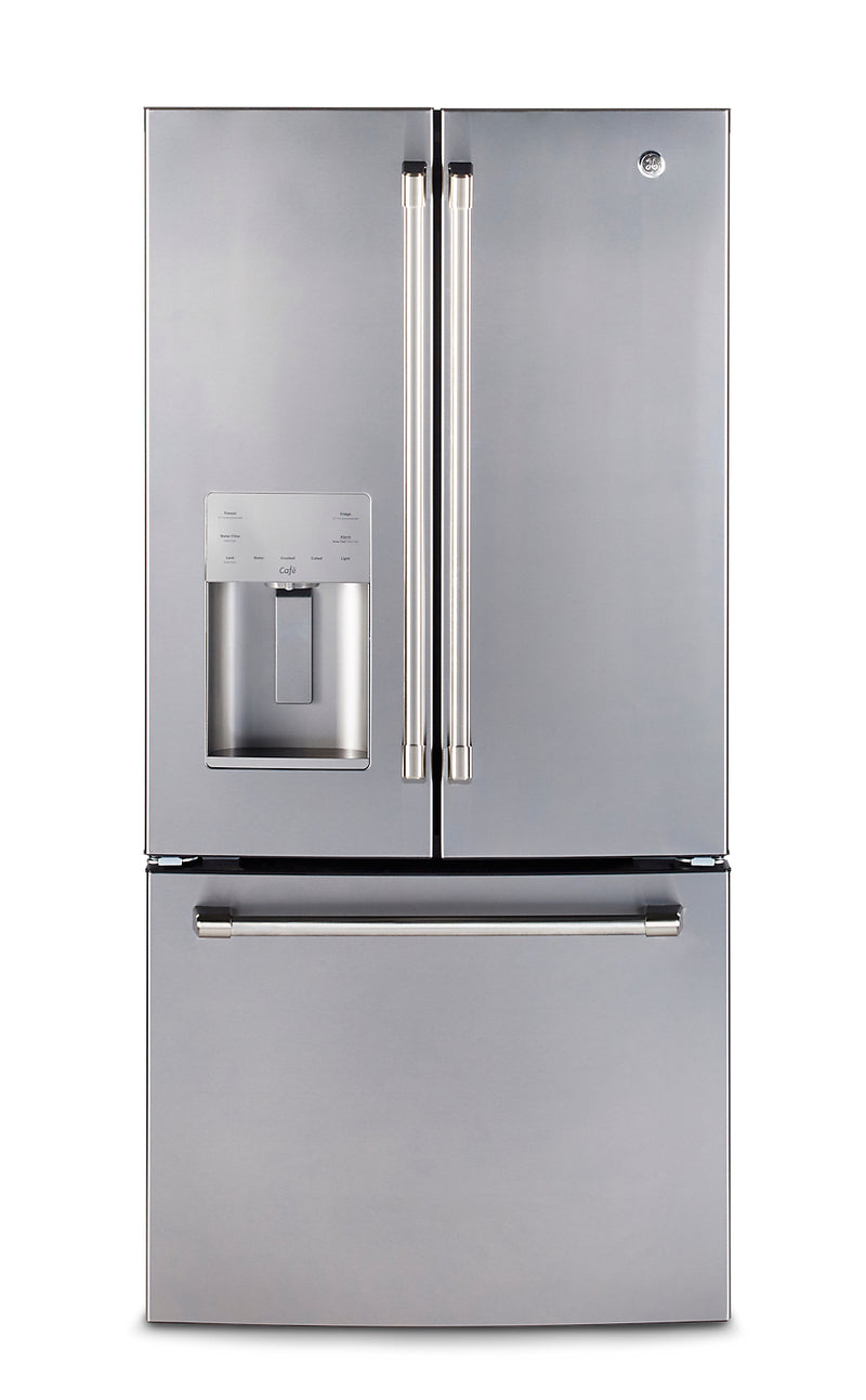 GE Café 23.8 Cu. Ft. French-Door Refrigerator with Factory-Installed Icemaker – CFE24SSKSS|Réfrigérateur GE CaféMC 23,8 pi³ portes françaises, machine glaçons installée en usine - CFE24SSKSS