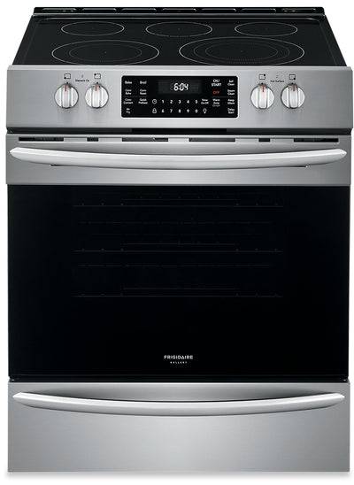 Frigidaire Gallery 5.4 Cu. Ft. Front-Control Convection Range with Air Fry - CGEH3047VF - Electric Range in Stainless Steel