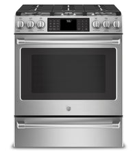 GE Café 5.6 Cu. Ft. Wi-Fi-Connected Convection Slide-In Gas Range – CCGS986SELSS