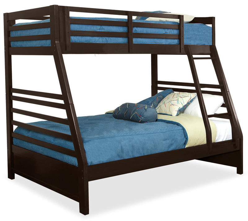 Chadwick Twin/Full Bunk Bed – Espresso|Lits simple et double superposés Chadwick – espresso