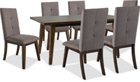Chelsea 7-Piece Dining Package with Brown Chairs