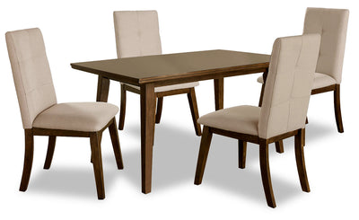 Chelsea 5-Piece Dining Table Package with Beige Chairs - {Contemporary} style Dining Room Set