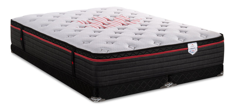 Springwall True North Chiropractic Chinook Eurotop Low-Profile King Mattress Set|Ensemble Euro-plateau profil bas True North Chinook ChiropracticMD de Springwall pour très grand lit