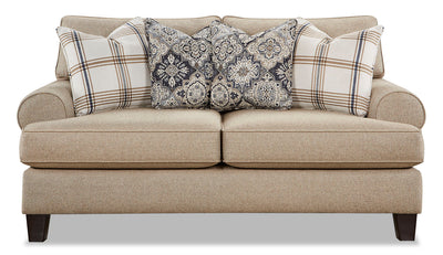 Ciera Linen-Look Fabric Loveseat - Whitaker Wheat|Causeuse Ciera en tissu d'apparence lin - blé Whitaker|CIERAWLV