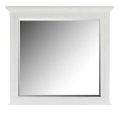 Citadel Mirror - Dove White - {Traditional} style Mirror in Dove White {Solid Hardwoods}, {Birch}