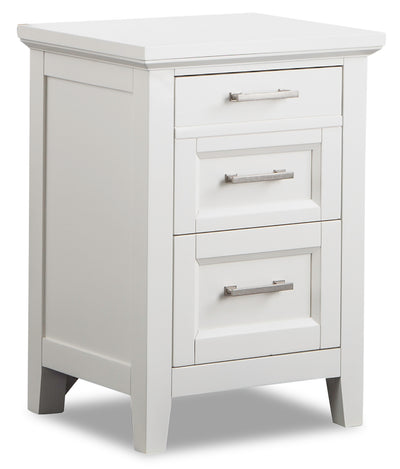 Citadel Nightstand - Dove White - {Traditional} style Nightstand in Dove White {Solid Hardwoods}, {Birch}