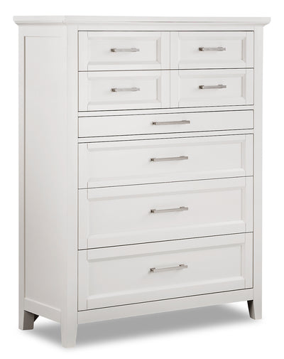 Citadel Chest - Dove White - {Traditional} style Chest in Dove White {Solid Hardwoods}, {Birch}